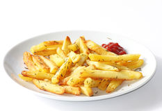 Baked French Fries with Thyme Stock Images
