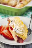 Baked french toast with strawberry Royalty Free Stock Photo