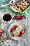 Baked French Toast with strawberry Stock Photos