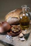Baked garlic Royalty Free Stock Image