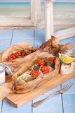 Baked Gilthead fish Stock Images