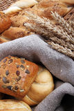 Baked goods. Different kinds of fresh bread stock photo