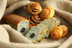 Baked Goods with Poppy. Fresh Homemade baked goods with poppy seed Royalty Free Stock Photography