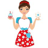 Baked goods woman Royalty Free Stock Photos