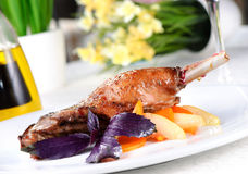 Baked goose leg Stock Photography