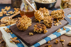 Baked granola Stock Images