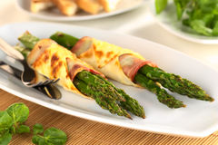 Baked Green Asparagus Royalty Free Stock Photography
