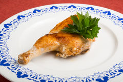 Baked half chicken Stock Images