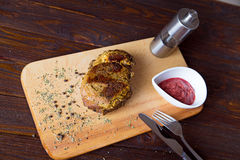 Baked ham. On the cutting board Stock Images