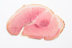 Baked ham slice closeup Stock Images