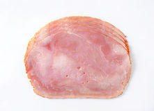 Baked ham slices Stock Photos