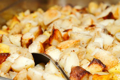 Baked hash brown potatoes Stock Photo