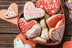Baked Hearts For Valentine S Day Royalty Free Stock Photos