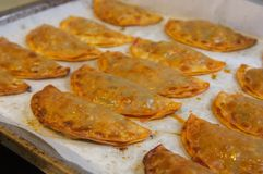 Baked in the home oven empanadillas Royalty Free Stock Image