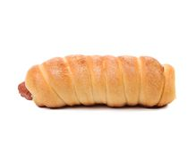 Baked hot dog. Royalty Free Stock Photography
