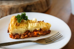 Baked Irish pie with minced meat Royalty Free Stock Photos
