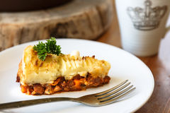 Baked Irish pie with minced meat Royalty Free Stock Image