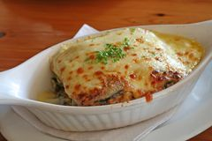 Baked lasagna Stock Photo