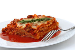 Baked Lasagna Stock Photography