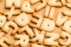 Baked letter biscuit Royalty Free Stock Photography