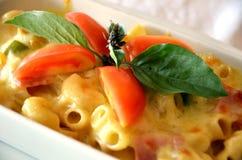 Baked macaroni Stock Images