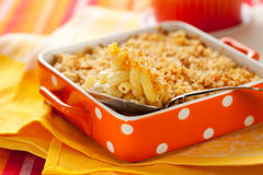 Baked macaroni and cheese Royalty Free Stock Photos