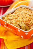 Baked macaroni and cheese Stock Photos