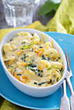 Baked macaroni and cheese with pumpkin Royalty Free Stock Image