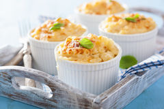 Baked macaroni with cheese royalty free stock photography