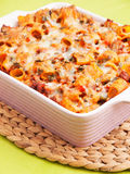 Baked macaroni with meat and cheese Royalty Free Stock Photo