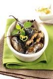 Baked mackerel Royalty Free Stock Photography