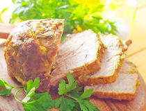 Baked meat Royalty Free Stock Image