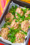 Baked meat balls Royalty Free Stock Photography