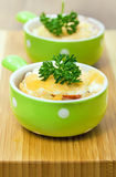 Baked meat  with cheese Stock Image