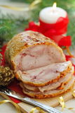 Baked meat for christmas dinner. Stock Photos