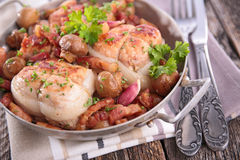 Baked meat with herbs Royalty Free Stock Photo