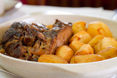 Baked meat with potato Royalty Free Stock Photos
