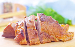 Baked meat royalty free stock photography