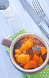 Baked meat with vegetables Stock Photography