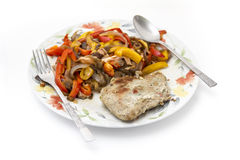 Baked meat with vegetables Royalty Free Stock Photography