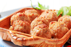 Baked meatballs Stock Images