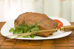 Baked meatloaf Stock Image