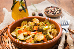 Baked mixed vegetables Royalty Free Stock Image
