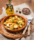 Baked mixed vegetables Royalty Free Stock Photo