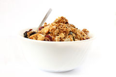 Baked muesli in bowl Royalty Free Stock Image