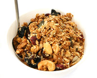 Baked muesli in bowl Stock Photo