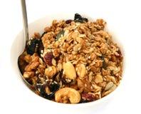 Baked muesli in bowl Stock Photo