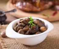 Baked mushrooms Stock Image