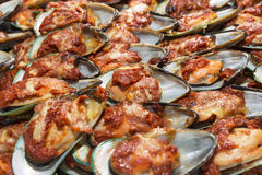 Baked Mussel Royalty Free Stock Images