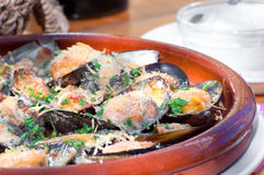 Free Baked Mussels Royalty Free Stock Photos - 23898348